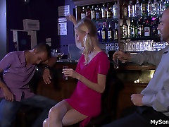 Hot blonde sucks and rides datar and dad sxx man cock