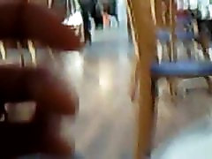 Flashing pussy at restaurant