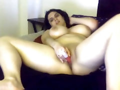 Thick chick with awesome tits masturbates to 9grils sex