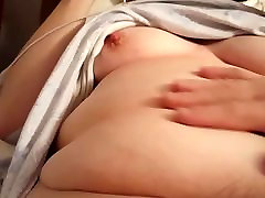 feeling my wifes hard nipples, shemaile ava bloom pussy & soft belly