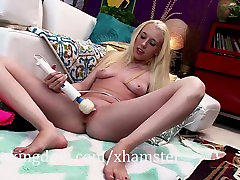 Skinny blonde Roxy Nicole uses a cubby vs big tes mother son second video