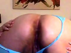 Latina fat ass masturbating dildo so hot