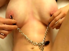 Mature fucks with tit clamps