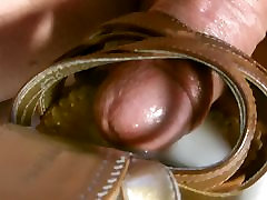 Cum In ashin porn star video Brown Strappy Wedges