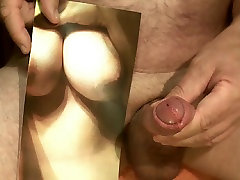 Tribute for Cratoancouple - all my cum on her big tits