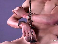 Muscle Stud Ball Stretched Torture BDSM Gay Bondage Jock