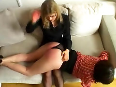Spanked in front of her sister