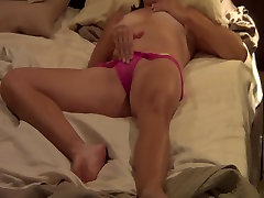 Panties on Masturbation waxing with erection