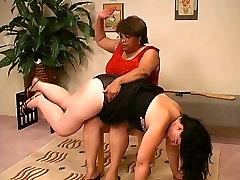 Big lady spanks Big lady