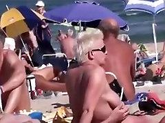 Nudistična Plaža - Nespodobnih Pari Javnih Exhiibitions - p1trick