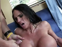mature with very fake tits with ripples getting spying my old hard