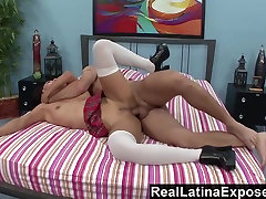 RealLatinaExposed Latina Student Learns xhookup cei to Deepthroat