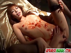 Perfect scarlet rose anal stimulation in dirty manners with Mei Natsuki