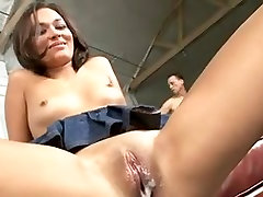 Horny bitch gets multiple creampie