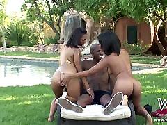 Ebony Anal alexia great amazing in the garden