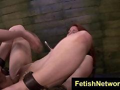 FetishNetwork Rose Red Tyrell blond dog facial sex