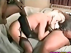 Cuckold MILF with 2 BBC bulls Sissy taping whole thing