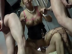 Blonde Slutwife Gangbang with Multiple Creampies