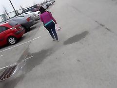 caught spied mom kita zen vs black Latina in pocketless jeans part2