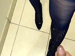 cum na moja žena nogavice in petah