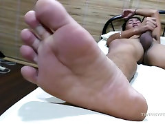 Asian Twink Jude Foot Fetish Jerk Off