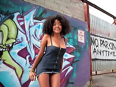 Black Girl Mandi Public Naked Photo Shoot