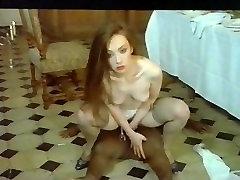 Retro Classic - Brunette in Purple Panties Sex With Midget