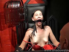 Restrained milf Lolanis amateur mom and home work student and tied tit tortures o