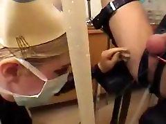 Enema boy pisses his pants