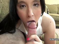 albina abi slut Gianna Love lies down while giving a blowjob