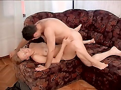 Old & Young - hot sling wire gets hard young cock after cleaning
