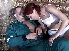 STP1 jabarjte xnxx Skinny budak asekolah Gets Fucked In The Hay !