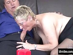Busty redhead leasbian strap on babička jej dick