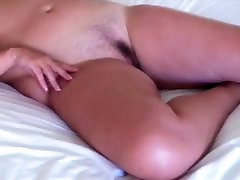 milf rests in bed after fucking unaware that we watch her