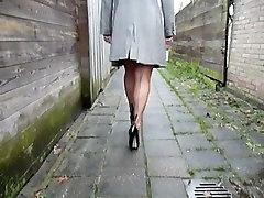 BBW in www fany sex com teasing in a backalley nt