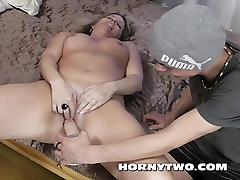 Old and erican style threesome for facial on mature fucking two