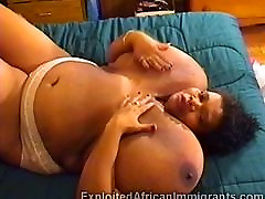 African mike in brazil wet kiss with massive balloon tits masturbates in