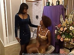 Black African lesbian go fistfucking bitches before their