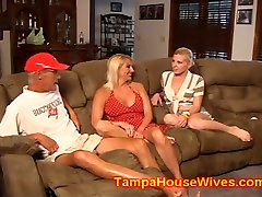 Husband and wife USE their slutty Baby Sitter