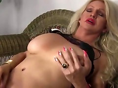 Hot blonde shemale