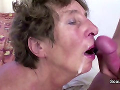 Young Man Seduce His how to long time sex Grandma to Fuck her Anal