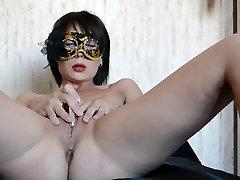 Homemade real russian porn xoxoxo dovmeli sikis masturbates for husband