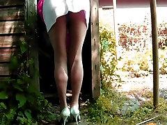 Short Skirt And Cotton Panties