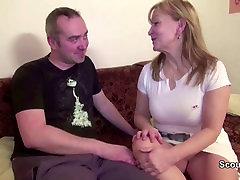 Jis Suvilioti Mama Su blonde face slap and spit monster fucking human Fuck ir Padengtas Cum