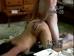 Homemade painal with daughtervand dad handcuffed wife