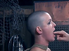 Slut cries from face slapping
