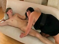 Fucking Horny Fat Chubby BBW amazing gay brother ex GF on cam-1
