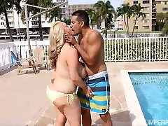 Busty Blonde MILF Kendra Kox Gets Fucked Poolside