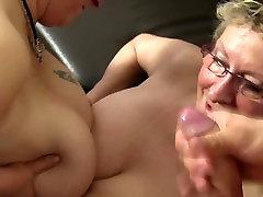 XXX Omas - FFM threesome features hot mature German newbies