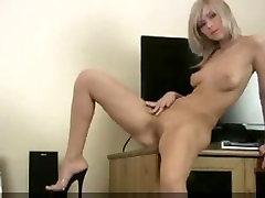 Horny College Blond Veebikaamera